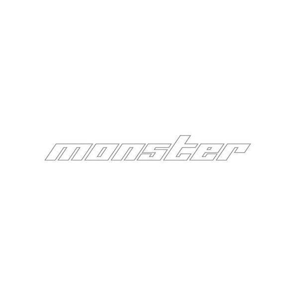 モンスタースポーツ ステッカー*スイフト/ジムニー/ランサーエボリューション【中抜きステッカー(クリア☓ライトシルバー)】370×45|tajimastore