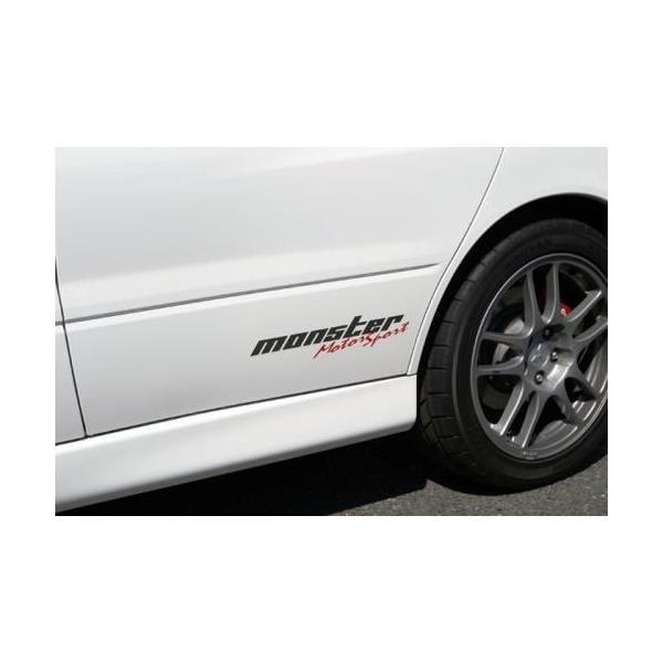 モンスタースポーツステッカー「モータースポーツステッカー(クリア×ガンメタ×レッド)」スイフト/ジムニー/ランサーエボリューション/86*362×75.5「ZZZB20」 tajimastore