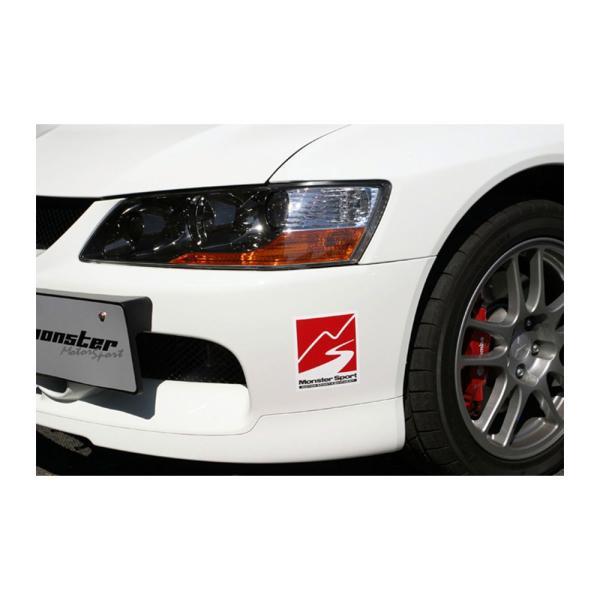 モンスタースポーツステッカー「マークステッカー(ホワイト×ガンメタ×レッド)」120×140*スイフト/ジムニー/ランサーエボリューション/86「ZZZB30」|tajimastore