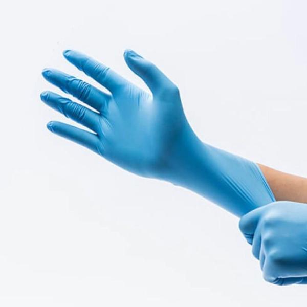 ニトリル手袋ANTI-MICROBIAL使い捨て伸縮性パウダーフリーMサイズFDA認証取得100枚入り(50ペア/箱)