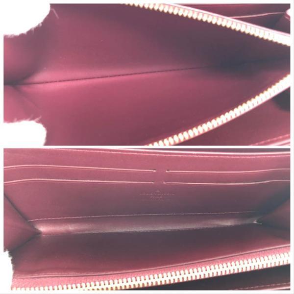 ルイヴィトン 財布 長財布 ヴェルニ ジッピーウォレット ラウンドファスナー レディース ルージュフォーヴィスト LOUIS VUITTON M91536 中古