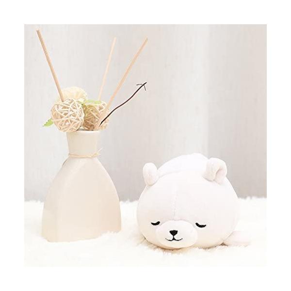 シロクマホワイト りぶはあと マスコット マシュマロアニマル し|takahashi-shopping|05