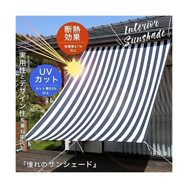 幅190X丈180cm/ハリー2 ネイビー  サンシェード ハリー2 ネイビ|takahashi-shopping|04