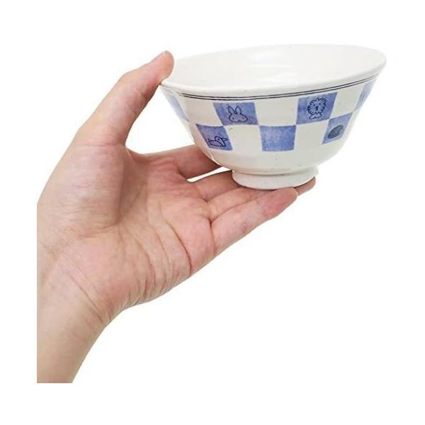金正陶器 飯碗 白 12cm ミッフィー 和食器 茶碗 市松 201160|takahashi-shopping|03