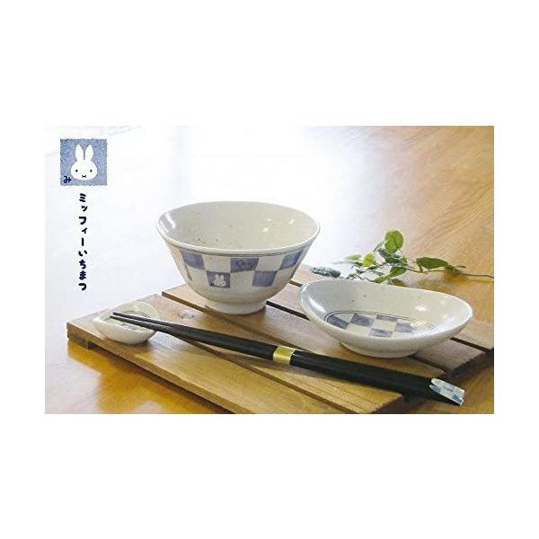 金正陶器 飯碗 白 12cm ミッフィー 和食器 茶碗 市松 201160|takahashi-shopping|05