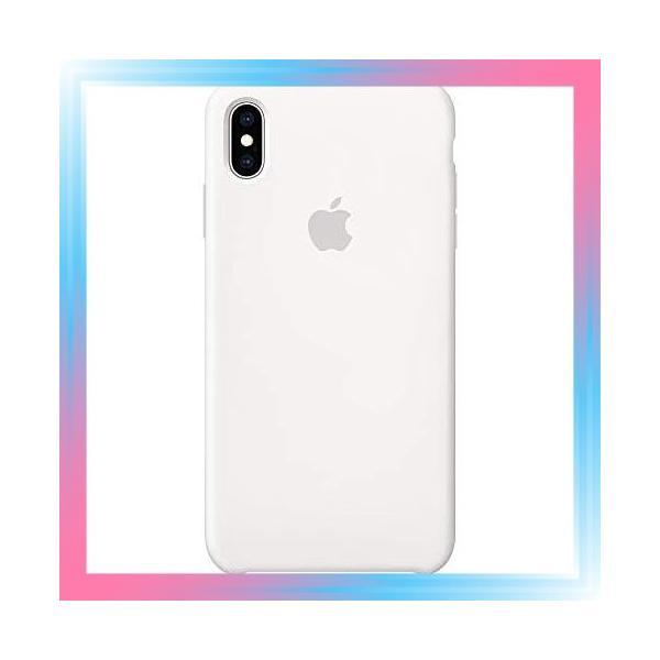 ホワイト iPhone XS Maxシリコーンケース - ホワイト|takahashi-shopping