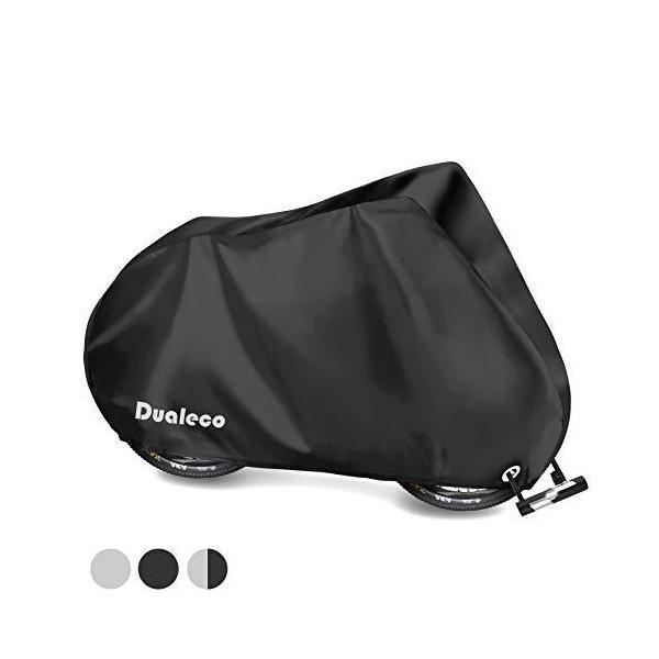 Dualeco自転車カバー子供用キッズサイクルカバー防水210D厚手丈夫撥水加工UVカット防犯防風収納袋付破