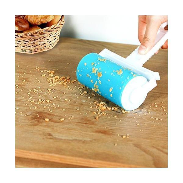 YAYGOD 粘着ローラー 粘着式クリーナー ほこり取り 洗って繰り返し使え 水洗え 埃、髪、洋服 ペット 絨毯 毛布|takahashi-store|05