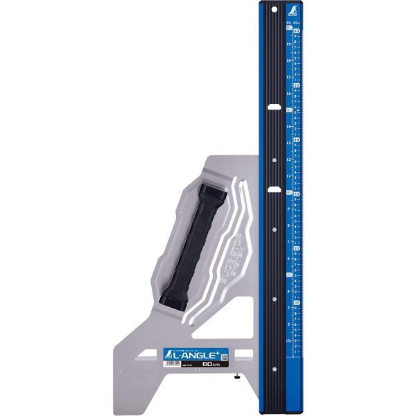 シンワ測定 73151/丸ノコガイド定規 エルアングル Plus 60cm 併用目盛