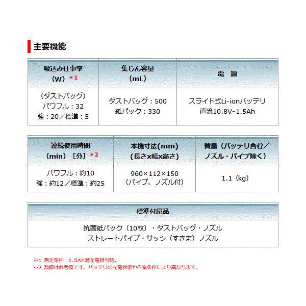 【セット】マキタ CL107FDSHW+ 充電式クリーナー 10.8V 1.5Ah 【プレミアムセット】バッテリー・充電器set【製品保証サービス有り】|takahashihonsha|08