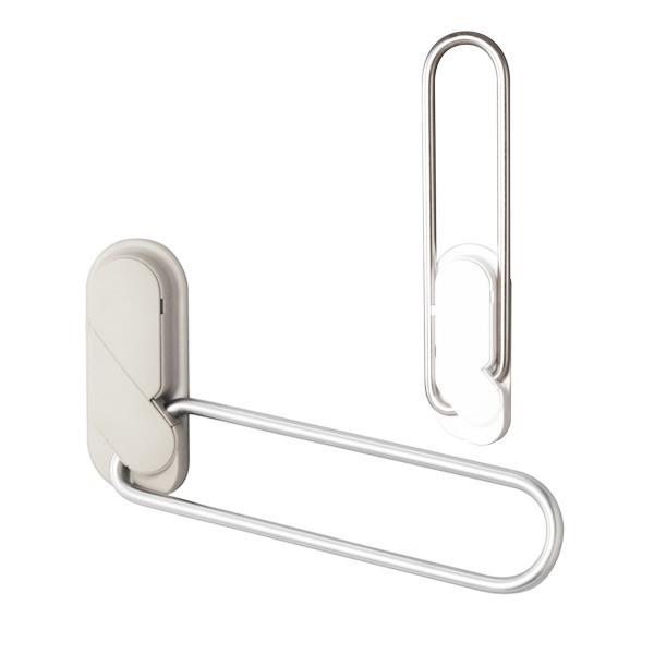 室内用ホスクリーン窓枠付 MD-W/MD-LB ホワイト/ライトブロンズ 物干し金物 (左右2本1組)|takahashihonsha