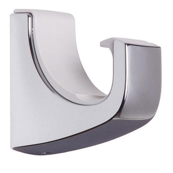 室内物干し金物 ホスクリーン QL型専用フック QLH-Cr 1セット2個入 物干竿を、見せる収納に。 川口技研|takahashihonsha