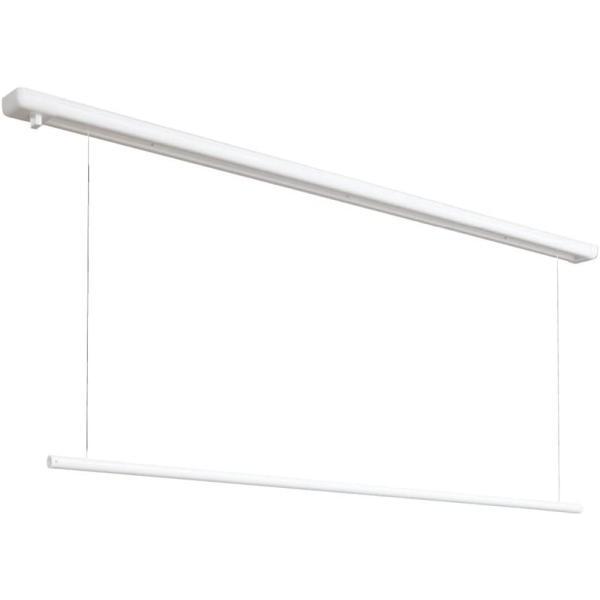 川口技研 室内用ホスクリーン URM-L-W  全長1740mm  昇降式操作棒タイプ(面付型)室内物干【代引不可】|takahashihonsha