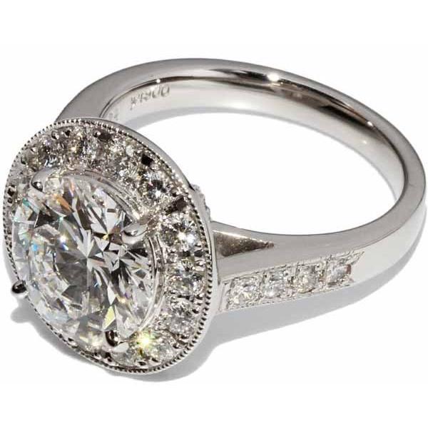 指輪 リング Pt900 ダイヤ3.024ct ダイヤ0.80ct 12号