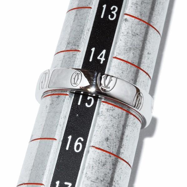 カルティエ 指輪 リング K18WG ハッピーバースデーリング SM ロゴカルティエ B40509 #55 14.5号