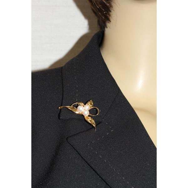 ミキモト ブローチ K18YG パール 真珠