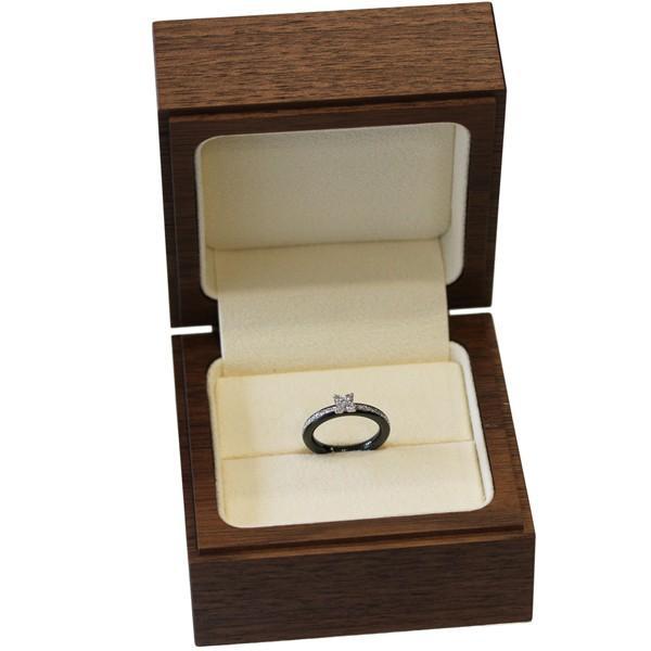ポンテヴェキオ 指輪 リング K18WG ブラックセラミック ダイヤ0.35ct スフィーダ ブラックリング 8号