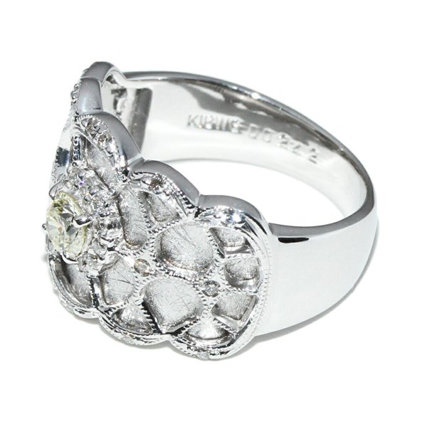 指輪 リング K18WG ダイヤ0.242ct 13号