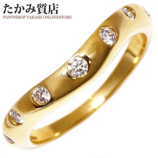 ブルガリ 指輪 リング K18YG ダイヤ7P 0.30ct コロナリング AN856073 8.5号
