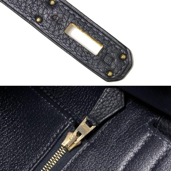 エルメス ハンドバッグ バーキン35 トゴ ブルーオーシャン ゴールド金具