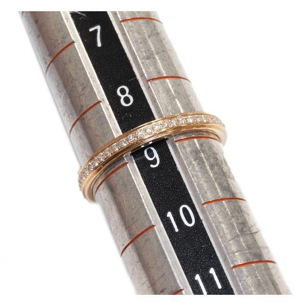 カルティエ 指輪 リング K18PG ダイヤ54P 約0.14ct ダムールウェディングリング 幅2.3ミリ フルサークル B40935 #49 9号