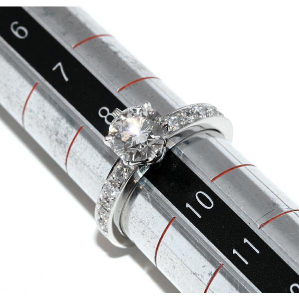 ティファニー 指輪 リング Pt950 ダイヤ1.00ct ダイヤ ラウンドブリリアント&チャネルセッティングバンドリング ティファニーセッティング 9号