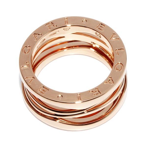 ブルガリ 指輪 リング K18PG B.zero1 ビーゼロワン デザインレジェンドリング M AN858029 #50 9.5号