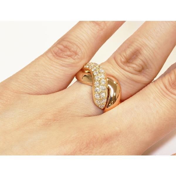 指輪 リング K18YG K18PG ダイヤ0.52ct 11.5号