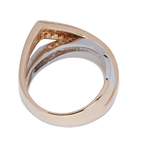 指輪 リング K18PG Pt900 ダイヤ0.30ct 10.5号