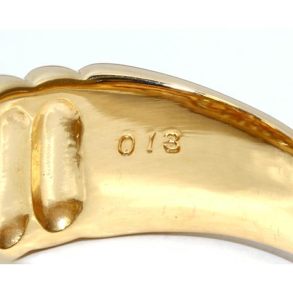 指輪 リング K18YG ダイヤ0.13ct 13号
