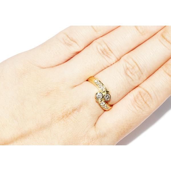 指輪 リング K18YG ダイヤ0.52ct 12号