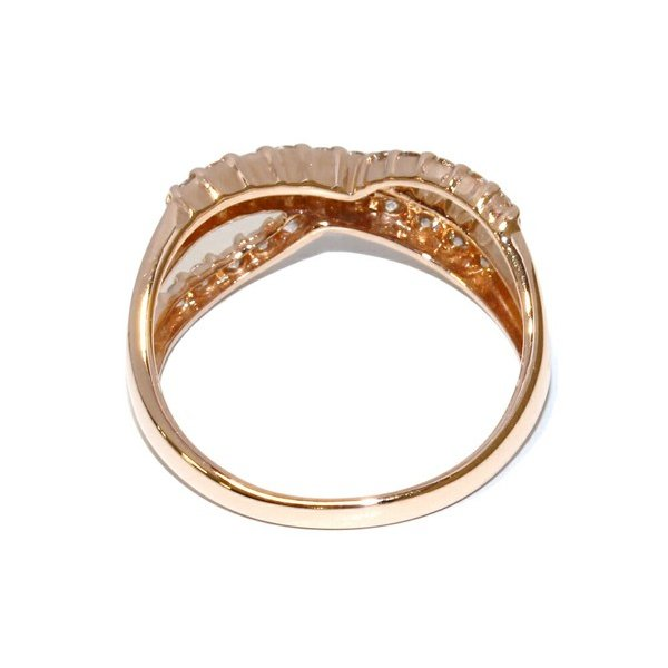 指輪 リング K14PG ダイヤ0.45ct 10.5号