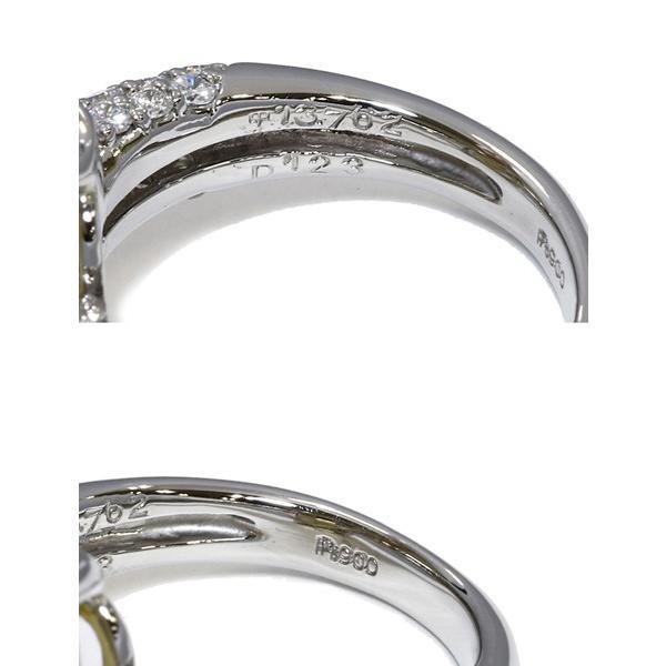 指輪 リング Pt900 インペリアルトパーズ13.762ct ダイヤ1.23ct 12号