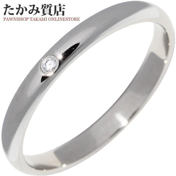 カルティエ 指輪 リング Pt950 ダイヤ1P 0.01ct クラシックウェディングリング 1895ウェディングリング 幅2.6ミリ B40577 #55 14.5号