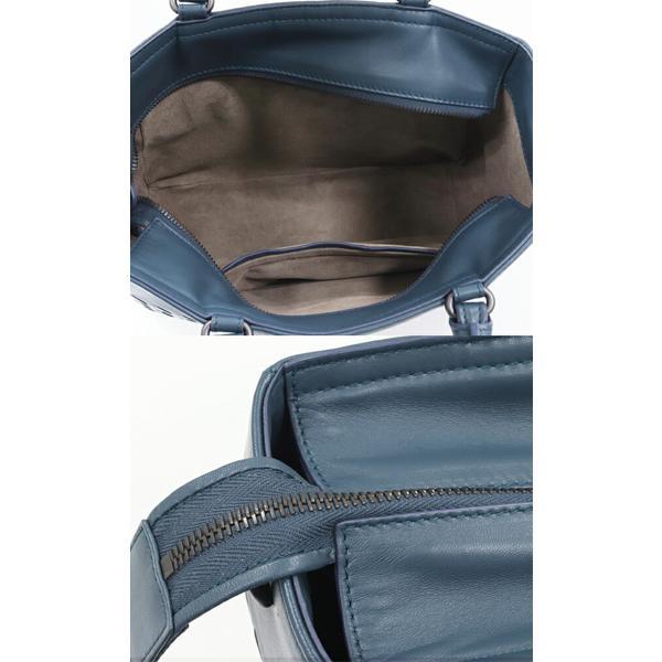 ボッテガヴェネタ ハンドバッグ 2WAY イントレチャート ナッパ スモールトートバッグ 481796 ラムスキン ブルー