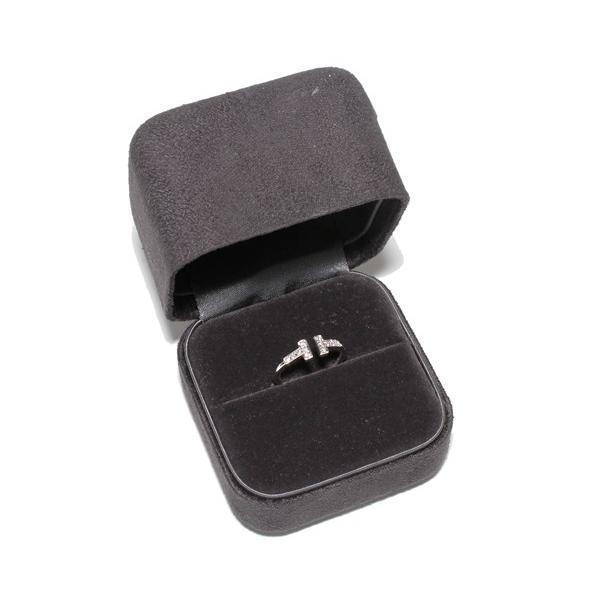 ティファニー 指輪 リング K18WG ダイヤ12P 0.13ct Tワイヤーリング 10.5号
