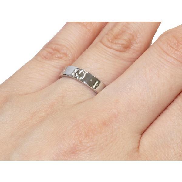 グッチ 指輪 リング K18WG アイコンリング #10 9.5号