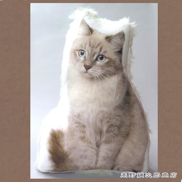 RoomClip商品情報 - 猫のクッション ファークッション ポインテッド×ホワイトファー CAT 雑貨 E