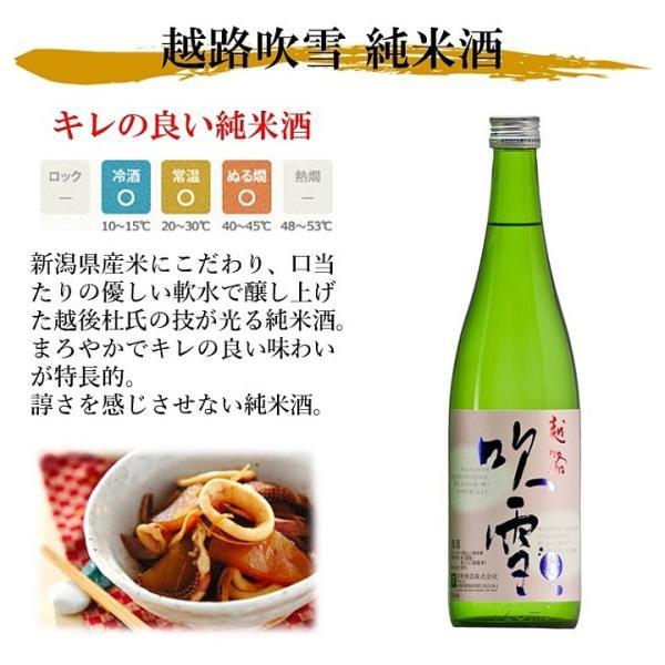 日本酒 お酒 純米酒 越路吹雪 720ml 辛口 敬老の日 ギフト プレゼント 新潟 高野酒造|takano-shuzo-y|02