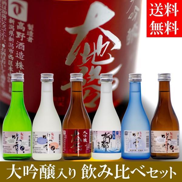 お中元 御中元 ギフト 日本酒 飲み比べセット 大吟醸入り 300ml 6本 辛口 小瓶 ミニボトル お酒 プレゼント のし対応 新潟 高野酒造 takano-shuzo-y 12