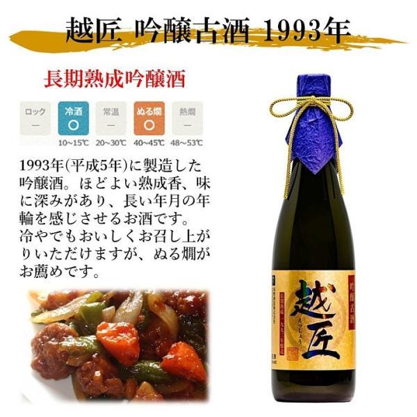 遅れてごめんね 父の日 日本酒 プレゼント 70代 ギフト お酒 吟醸 古酒 越匠 1993年 25年 720ml 木箱入 限定品 辛口 新潟 高野酒造|takano-shuzo-y|05
