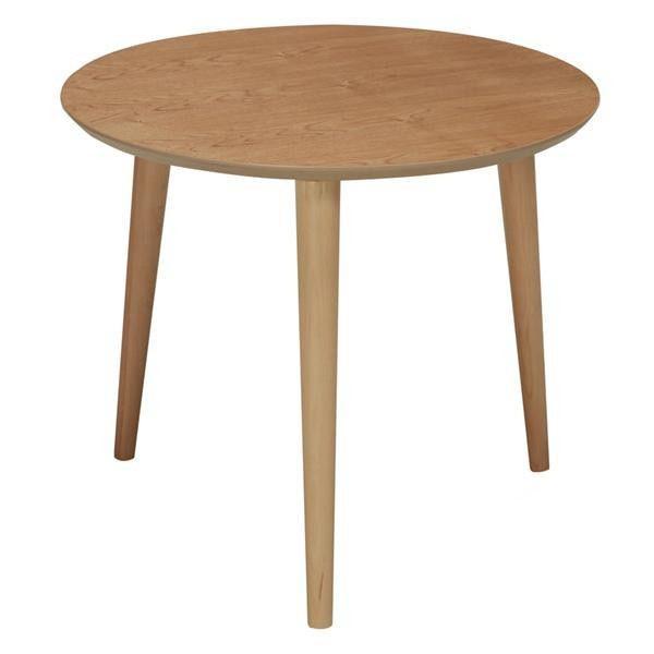同梱・代引き不可 ines(アイネス) 木製ラウンドテーブル NK-315