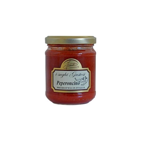 同梱・代引き不可 イタリア INAUDI社 イナウディ トマトとペペロンチーノのパスタソース 180g×6個 S6
