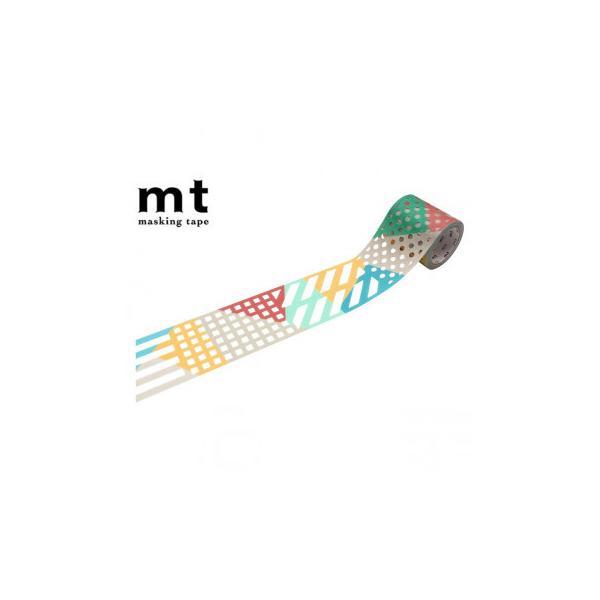 マスキングテープ mt fab 型抜き color & pattern block 幅45mm×3m MTKT1P16