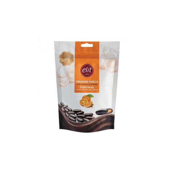 同梱・代引き不可 エリート ダークチョコレート オレンジピール 125g 12セット