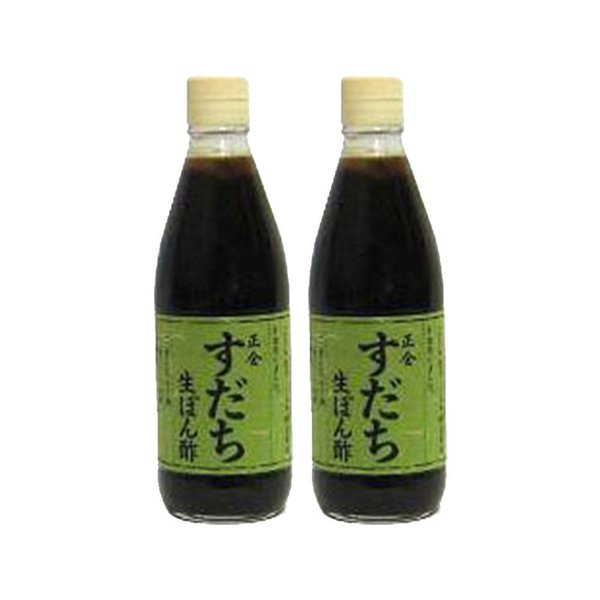 小豆島天然醸造 正金醤油 すだち生ぽん酢 360ml 2本セット