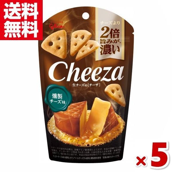 江崎グリコ チーズより2倍旨みが濃い 生チーズのチーザ 燻製チーズ味 5入 (CP) メール便全国送料無料