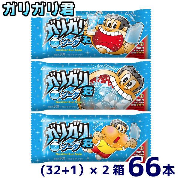 赤城乳業 ガリガリ君ソーダ(32+1)×2箱 66本入(冷凍) 本州一部冷凍送料無料