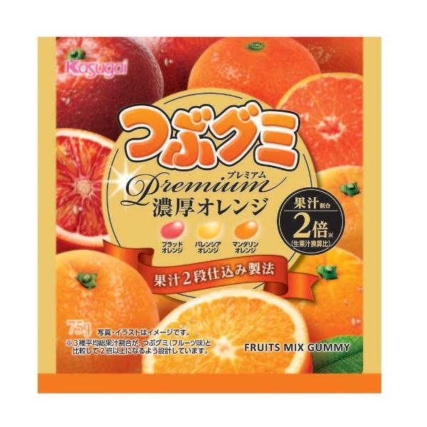 春日井 つぶグミ Premium(プレミアム) 濃厚オレンジ10入