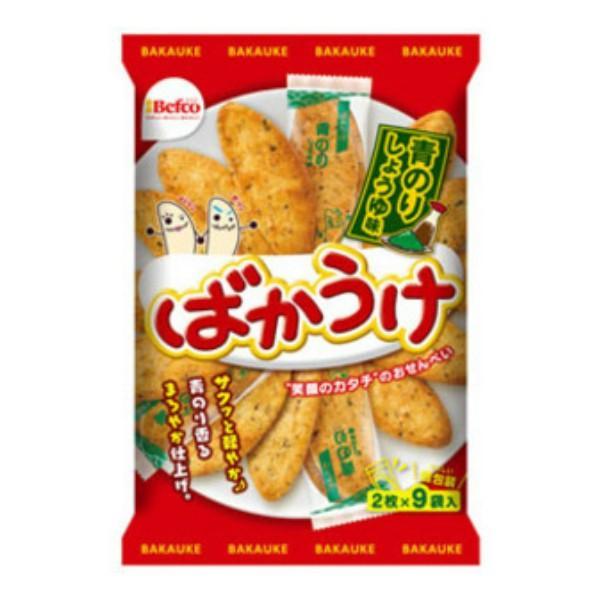 栗山米菓 18枚 ばかうけ 青のりしょうゆ味 12入
